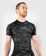 Rashguard Venum Defender met korte mouwen - Donkercamouflage