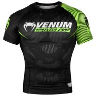 Venum Training Camp 2.0 Rashguard - Short Sleeves - Black/Neo Yellow