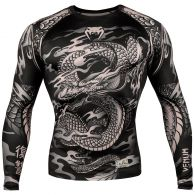 Rashguard Venum Dragon's Flight - Manga Larga - Negro/Arena
