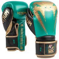 Venum Giant 2.0 professionelle Boxhandschuhe - WBC limitierte Auflage - Klettverschluss - Metallicgrün/Gold