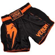 Venum Giant Muay Thai Short - Zwart/Neonoranje