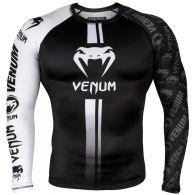 Rashguard Venum Logos - Mangas Largas - Negro/Blanco