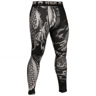 Pantaloni di compressione Venum Dragon's Flight - Nero/Sabbia