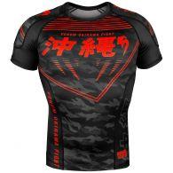 Rashguard Mangas Cortas Venum Okinawa 2.0 -  Negro/Rojo