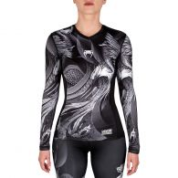 Venum Phoenix Rashguard - Long Sleeves - Black/White - For Women