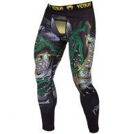 Mallas de compresión Venum Crocodile - Negro/Verde
