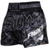 Pantaloncini da Muay Thai Venum Tecmo - Grigio scuro