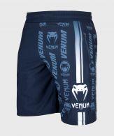 Fitness-Shorts Venum Logos - Marineblau/Weiß