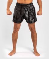 Venum Logos Muay Thai Shorts - Zwart / Zwart