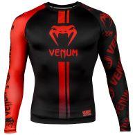 Venum Logos Rashguard - Lange mouwen - Zwart/Rood