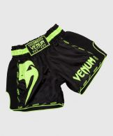 Venum Giant Muay Thai Shorts - Black/Neo Yellow