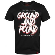 T-shirt Venum Ground And Pound - Noir