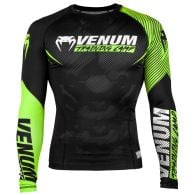 Camiseta de compresión Venum Training Camp 2.0 - Mangas largas - Negro / Amarillo Fluo
