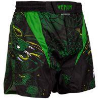 Fightshort court Venum Green Viper - Noir/Vert
