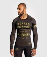 Venum Boxing Lab Rashguard - Lange Mouwen - Zwart/Groen