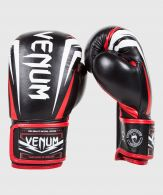 Venum Sharp Boxing Gloves - Black/Ice/Red - Nappa Leather