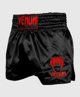Short de Muay Thai Venum Classic - Negro/Rojo