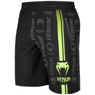 Venum Logos Training Shorts - Black/Neo Yellow