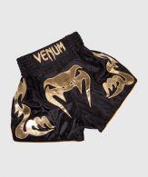 Pantaloncini da Muay Thai Venum Bangkok Inferno - Nero/Oro