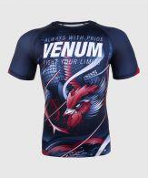 Venum Rooster Rashguard - Short Sleeves - Navy Blue/Orange
