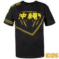 Camiseta Venum Okinawa 2.0 Kids - Negro/Amarillo