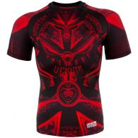Rashguard Venum Gladiator 3.0 - Red Devil - Manches courtes