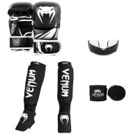 Venum MMA Challenger Sparring Bundle - Black/White