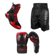 Boxing Pack Leather Red
