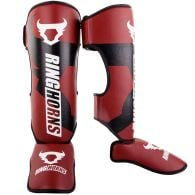 Ringhorns Charger Shin Guards Insteps - Red