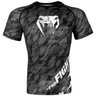 Venum Tecmo Rashguard - Short Sleeves - Dark Grey