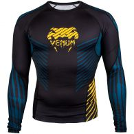 Venum Plasma Rashguard - Long Sleeves - Black/Yellow