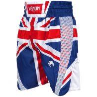 Short de boxe Venum Elite UK - Bleu/Rouge-Blanc