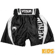 Venum Elite Kids Boksshort - Zwart/Wit