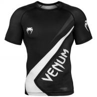 Venum Contender 4.0 Rashguard - Short Sleeves - Black/Grey-White