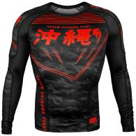 Venum Okinawa 2.0 Rashguard - Lang mouwen - Zwart/Rood