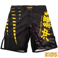Pantaloncini da combattimento Venum Okinawa 2.0 Bambino - Neri/Gialli