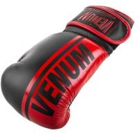 Venum Shield Pro Boxing Gloves - Velcro - Black/Red