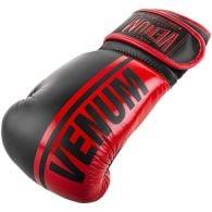Venum Shield professionelle Boxhandschuhe - Klettverschluss - Schwarz/Rot