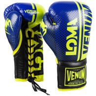 Venum Shield Pro Boxing Gloves Loma Edition - With Laces - Blue/Yellow