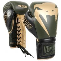Venum Giant 2.0 Pro Boxing Gloves Linares Edition - With Laces - Khaki/Black/Gold