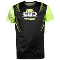 T-Shirt  European Beatdown Dry Tech Venum - Nero/Giallo Fluorescente