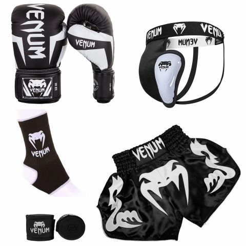 Venum Bangkok Elite Bundle - Black/White