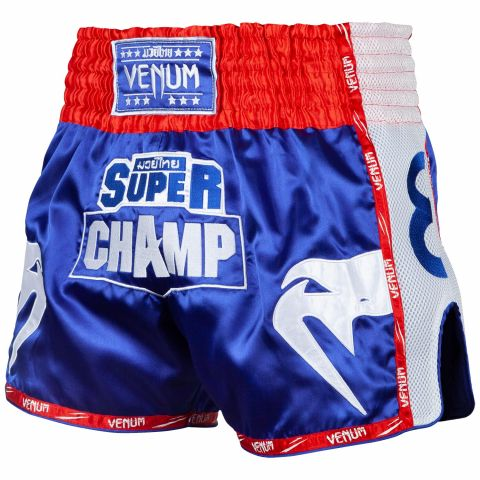 Short de Muay Thai Venum Super Champ - Exclusivité - Bleu
