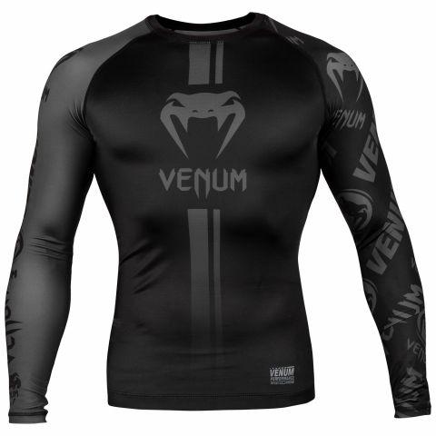 Rashguard Venum Logos - Maniche lunghe - Nero/Nero