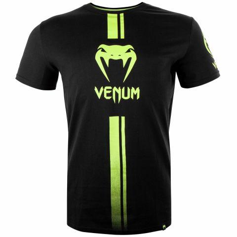 T-shirt Venum Logo - Nero/Giallo neo