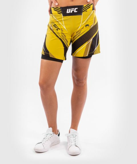UFC Venum Authentic Fight Night Women's Shorts - Long Fit - Yellow