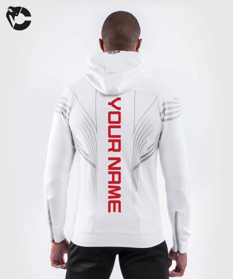 UFC Venum Gepersonaliseerd Authentic Fight Night Walkout Hoodie voor heren - Wit