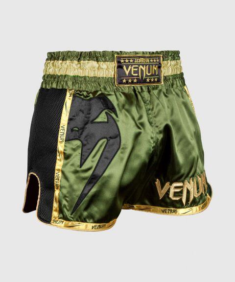 Pantalones Cortos de Muay Thai Venum Giant - Kaki/Negro