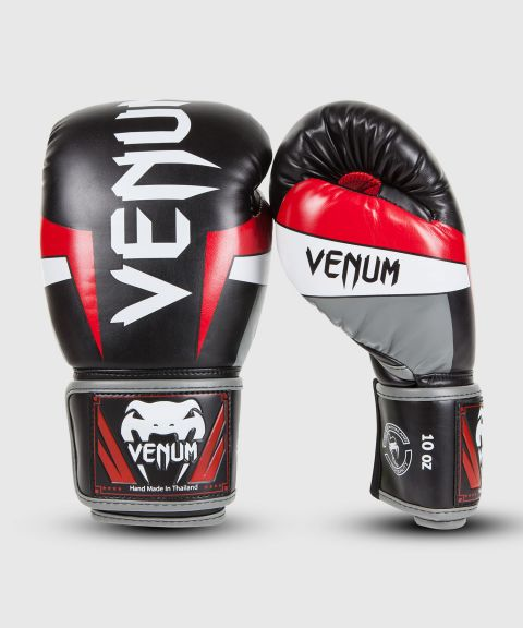 Guantes de Boxeo Venum Elite - Negro/Rojo/Blanco