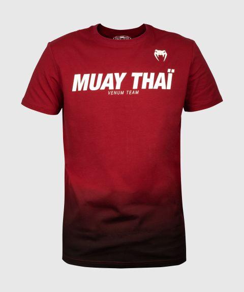 T-shirt Venum Muay Thai VT - Bordeaux/Noir